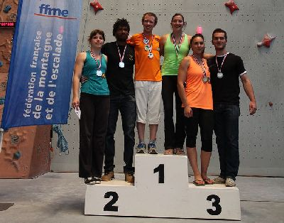podium mixte senior France escalade vitesse